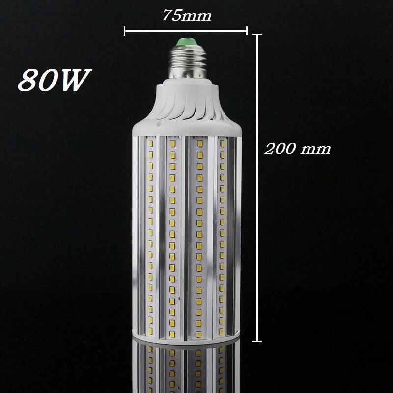 Новый E27 E40 30 Вт 40 Вт 60 Вт 80 Вт из светодиодов лампы 110 В 220 В лампада кукурузы лампочки подвеска освещения люстра потолок пятно света 3 шт./лот