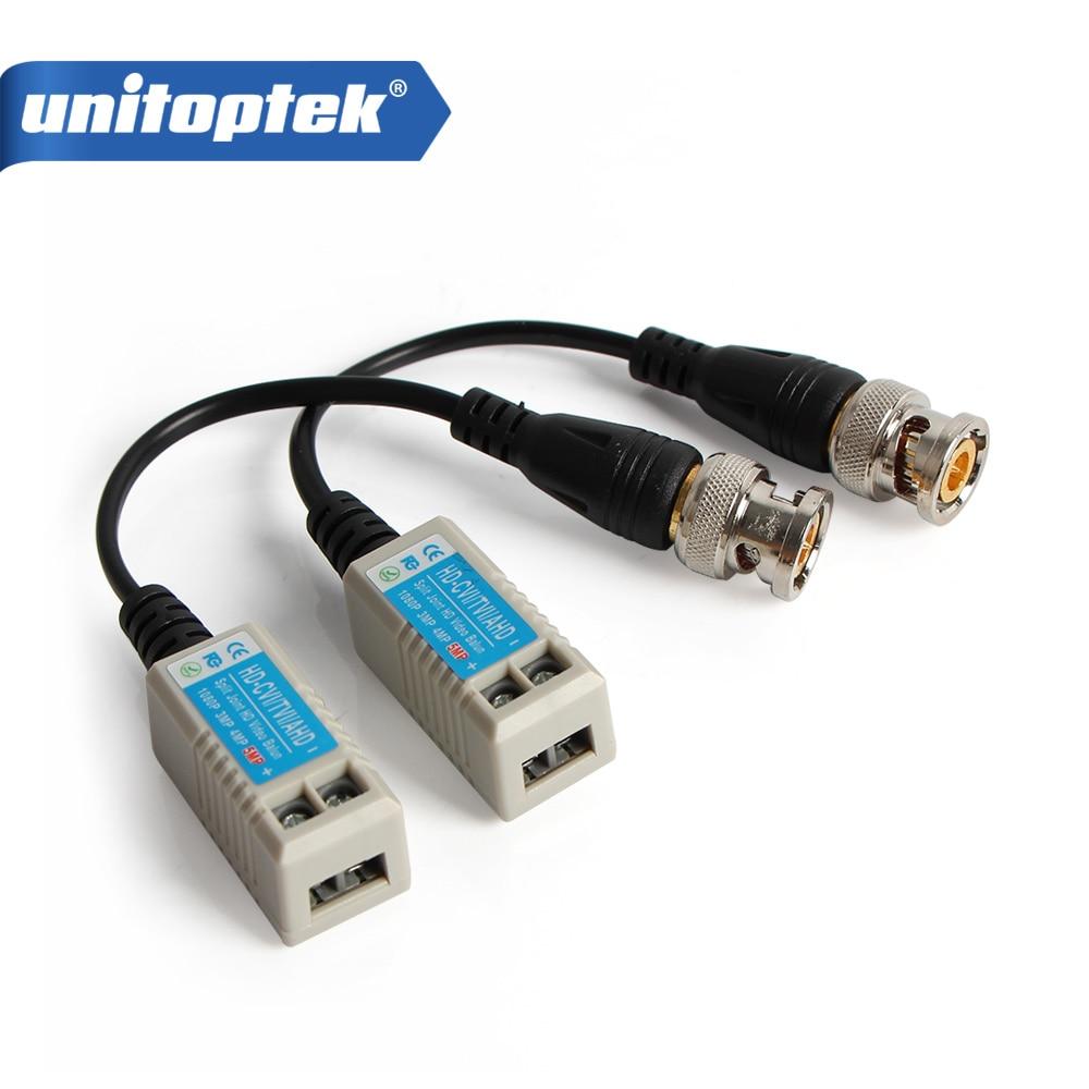 1Pair Enhanced BNC CCTV Video Balun  Twisted  Passive Transceivers UTP Baluns BNC Cat5 Support HDCVI AHD TVI Camera