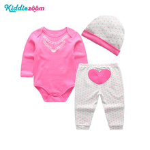 4pcs Set Bodysuit+Pants+Hat+Socks