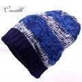 Cruxibb Nueva Marca de Moda de Sombreros de Invierno Para las mujeres Skullies Gorros Gorro de lana hombre Gorros Calientes Hombres Gorro Elasticidad