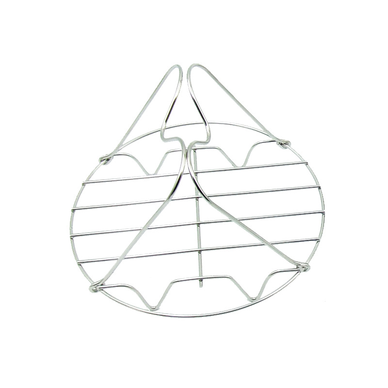 Insulation Rack With Butterfly Handle Stainless Steel Steaming Rack Anti-scalding Multi-purpose Four-corner Steaming Rack