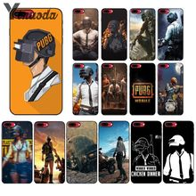 Купить с кэшбэком Yinuoda PUBG Black TPU Soft Silicone Phone Cover for Apple iPhone 8 7 6 6S Plus X XS MAX 5 5S SE XR Cellphones