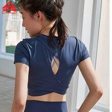 SYPREM Для женщин yoga рубашка стретч светло обучение спортивный топ высокие эластичные Пилатес Танки Марка Высокое качество спортивные футболки, TX80106