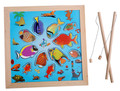 Baby Toys Magnetic Fishing Game  Magnetic Fishing Toy Blocks Wooden Toys Large Ocean Fish Educational Child Gift