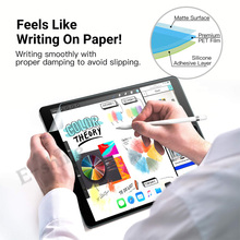 2PCS Paper Texture Film For iPad Pro 10.5 11 9.7 Paper-Like Anti-Glare Matte Screen Protector  Film Get Free Pencil Tip Cover 2pcs pack good quality matte film for apple ipad pro 10 5 screen protector front anti glare protective film cover