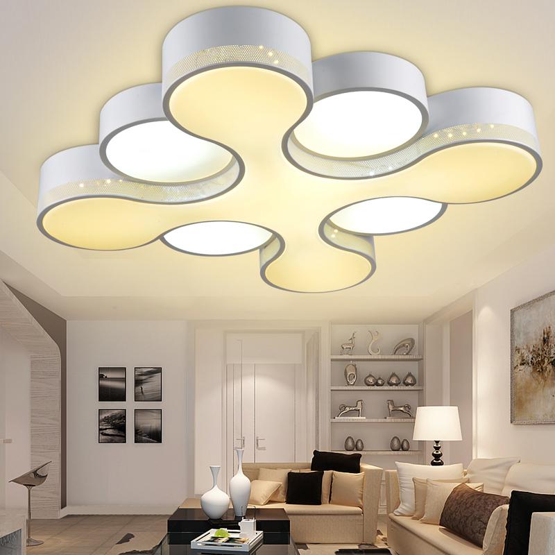 Fashion led ceiling light living room lights modern brief for Modern living room ceiling lights
