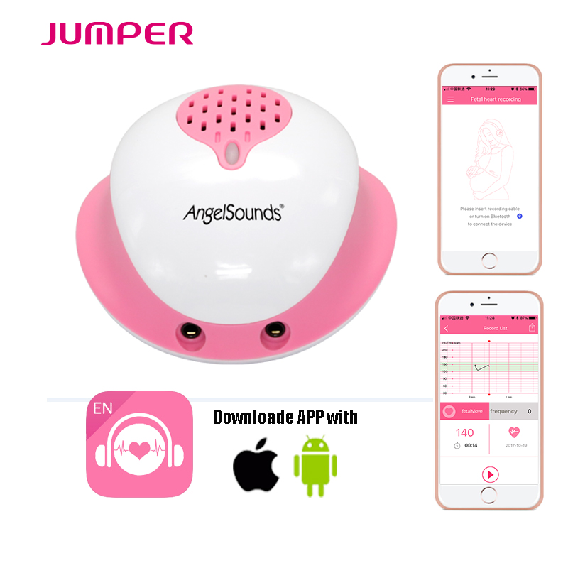 New Arrival Angelsounds Fetal Doppler JPD-200S by Wire connection mobile APP, 3.0MHZ Poc ...