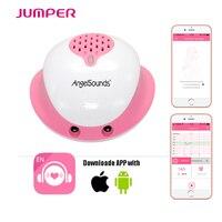 Nieuwe Collectie Angelsounds Foetale Doppler JPD-200S door Draad aansluiting mobiele APP, 3.0 MHZ Pocket Womb Muziek Hartslag Babyfoon