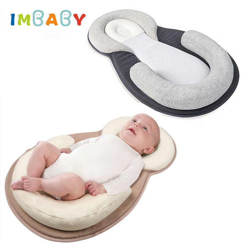 Comfortable Baby Pillow Infant Sleep Positioner Pillow Baby Anti Roll Cushion Pillow Rollover Prevention Newborn Baby Mattress