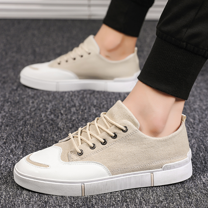 2019 summer casual fashion canvas shoes Korean version of the simple trend of wild student shoes in Men 39 s Casual Shoes from Shoes