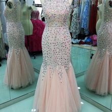 YGMJZB Open Back Long Evening Dress Mermaid Floor Length