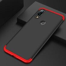 Dla Xiao mi Red mi Note 7 mi Note7 Case 360 pełna ochrona, odporna na wstrząsy obudowa telefonu 3w1