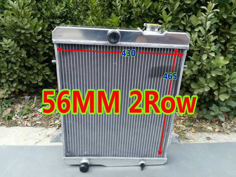 US $220 0 |56mm 2ROW aluminum racing radiator for 1965 1968 TRIUMPH TR4A TR  4A 2 1L I4 MT TR 4A 1965 1966 1967 1968-in Oil Coolers from Automobiles &