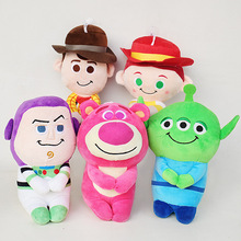 Toy Story Plush Toys 20cm Woody Buzz Lightyear Jessie Alien Lotso Huggin Bear Plush Stuffed Toys Doll for Children Kids Gifts