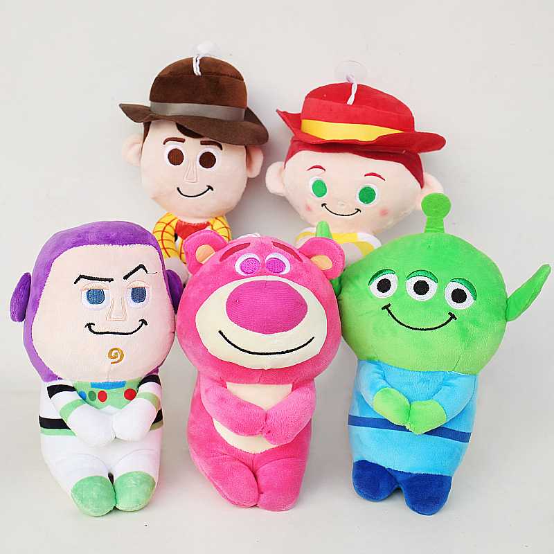Toy Story Plush Toys 20cm Woody Buzz Lightyear Jessie Alien Lotso Huggin Bear Plush Stuffed Toys Doll For Children Kids Gifts