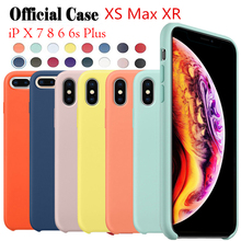 100 PCS Official Silicone Case For iPhone 7 8 Plus Silicon Cover X XR XS Max 6 6S Phone Capa