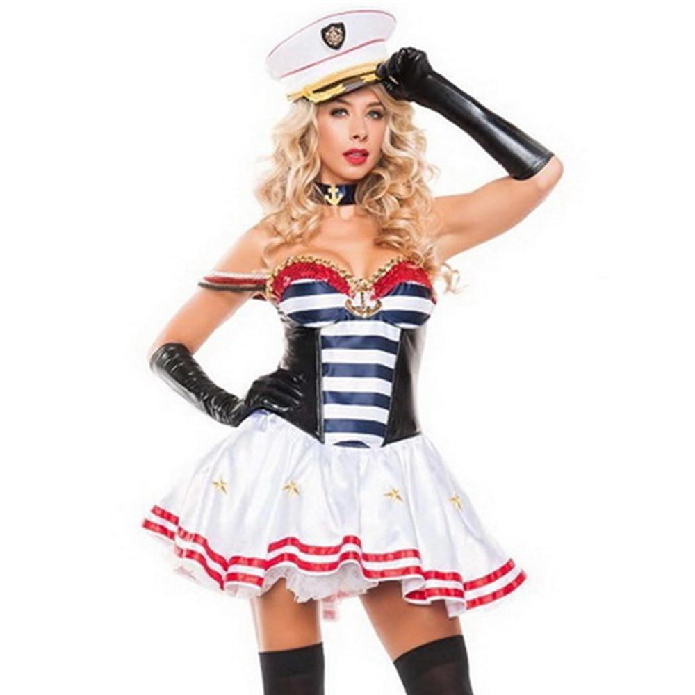 Sexy Seductive Sailor Woman Halloween Costume L15439