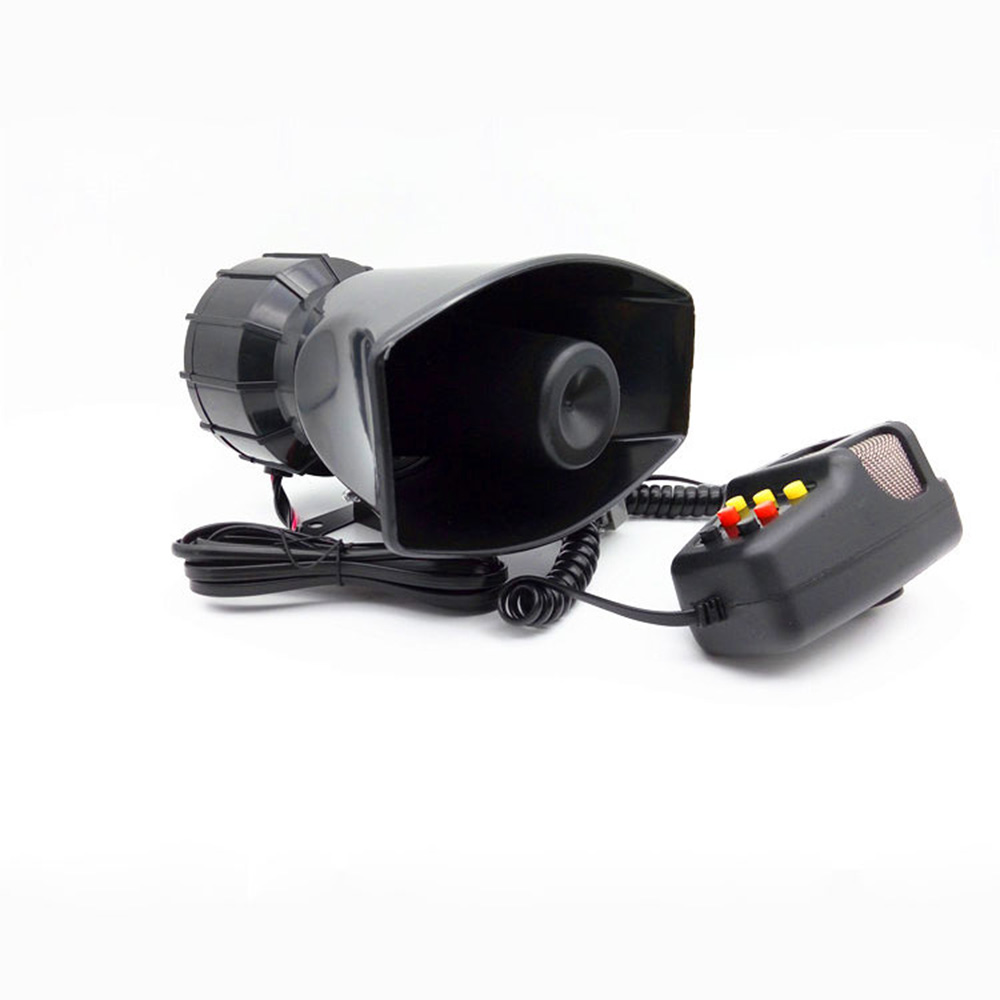 12V 130Db 100W Motorcycle Car Auto Vehicle Truck 5 Sound Tone Loud Horn Siren Police Firemen Ambulance Warning Alarm Loudspeaker