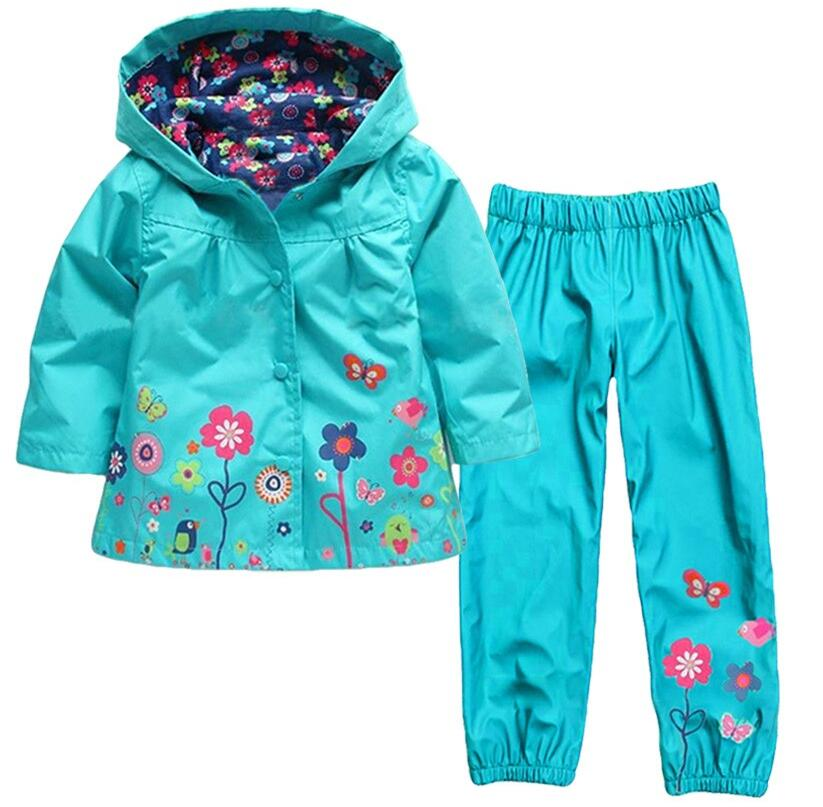 various colors united states full range of specifications US $19.94 5% OFF|Baby Girls Outfits Clothes Suits Fall Spring 2016 Toddler  Little Girls Waterproof Sets Hooded Jackets+Pants Raincoats Clothing -in ...