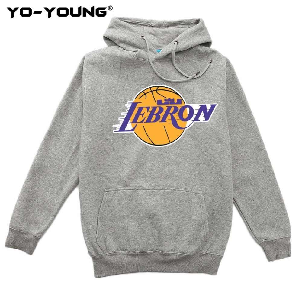 ec2fa21d4cb ... Yo-Young Men Premium Hoodies Sweatshirts Lebron James NEW Team LOGO  Design Unisex Casual Streetwear ...
