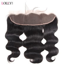Lolly Brazilian Body Wave Frontal With 130% Density Non Remy Human Hair Frontal 8-20 inch Ear To Ear 13X4 Free Part Lace Frontal