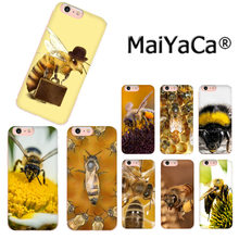 MaiYaCa Animal bee lujosa funda de teléfono móvil de moda para iPhone 8 7 6 S Plus X 10 5 5S SE XS XR XS MAX Coque Shell(China)