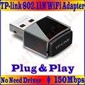 Plug & Play, não há Necessidade de Driver, Mini TP-LINK 11N 150 M Placa de Rede Sem Fio 150 Mbps 2.4 GHz Adaptador WiFi USB com Antena Interna