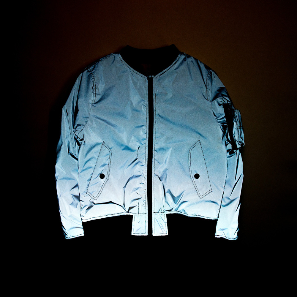 Men night full reflective jacket windbreaker clothing mens