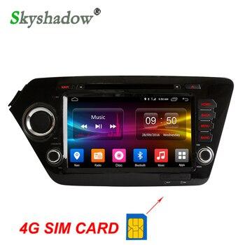 C500 4G SIM LTE Android 6.0 8 Core 2GB RAM car dvd player RDS Radio GPS map Bluetooth Wifi TPMS for Kia k2 RIO 2010- 2014 2015