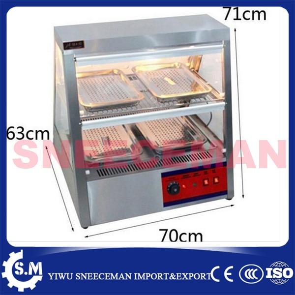 0.7m Electric Food Warming Display Showcase High Efficiency Food Warmer ship from au 1 85kw 3 layer hot food pie warmer display cabinet showcase temperature 30c 110c