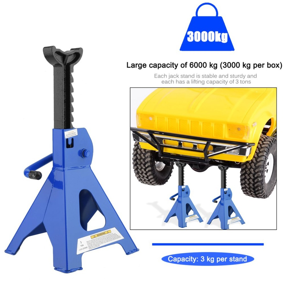 2Pcs/Set Stable Car Jack Stands Axle Stands 3 Tons Per Capacity For Heavy Duty Cars Auto Caravan Vehicles Stand Lifting