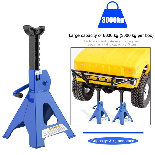 2pcs Set Stable Car Jack Stands Axle Stands 3 Tons Per Capacity For