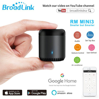 Broadlink Original RM Mini 3 WiFi+IR+4G Smart Home APP Remote Control work for Alexa Google Home IFTTT with UK AU US EU Adapter