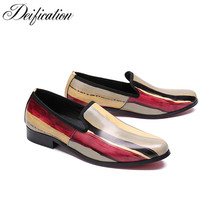Deification Mixed Colors Printed Men Loafers Shoes Moccasins Slip On Driving Man Fashion Italian Wedding