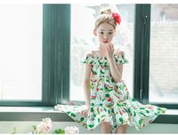 New 4 14T Girls Dresses Summer Bohemian Style Dress For Girls Fashion Knee Length Girls Beach