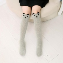 Knee High Cotton Cartoon Print Socks