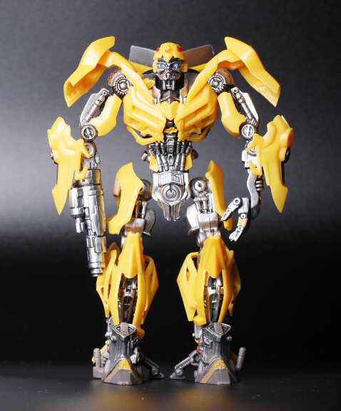 ФОТО Newest arrival 5pcs assembly Robot Bumblebee action pvc figure model tall 15cm in box hot sell.