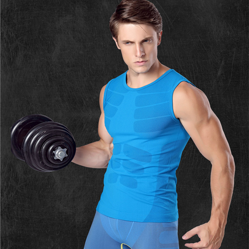 Mens Compression Tank Top Skeleton Muscle Pattern Singlet Tight Quick Dry Absorb Fitness Tops Workout Elastic Underwear