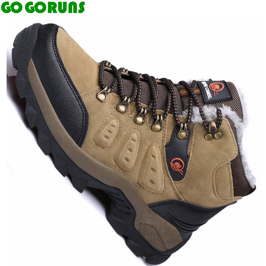 men outdoor sport high top plush hiking shoes hunting walking climbing shoes men outdoor hiking shoes sneakers ankle boots k338 big size 46 men s winter sneakers plush ankle boots outdoor high top cotton boots hiking shoes men non slip work mountain shoes