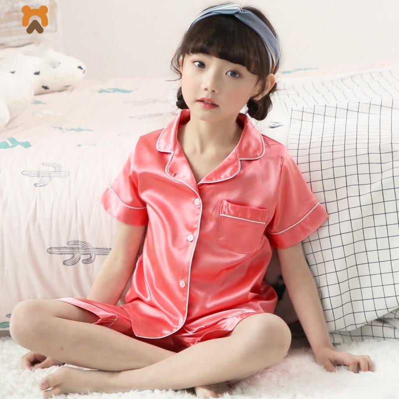 Summer Baby Girls Pajamas Clothes Sets Short Sleeve Casual ...