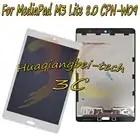 8,0 дюймов для huawei MediaPad M3 Lite 8,0 полный сенсорный экран дигитайзер стекло объектив + ЖК экран в сборе; тест ок перед отправкой