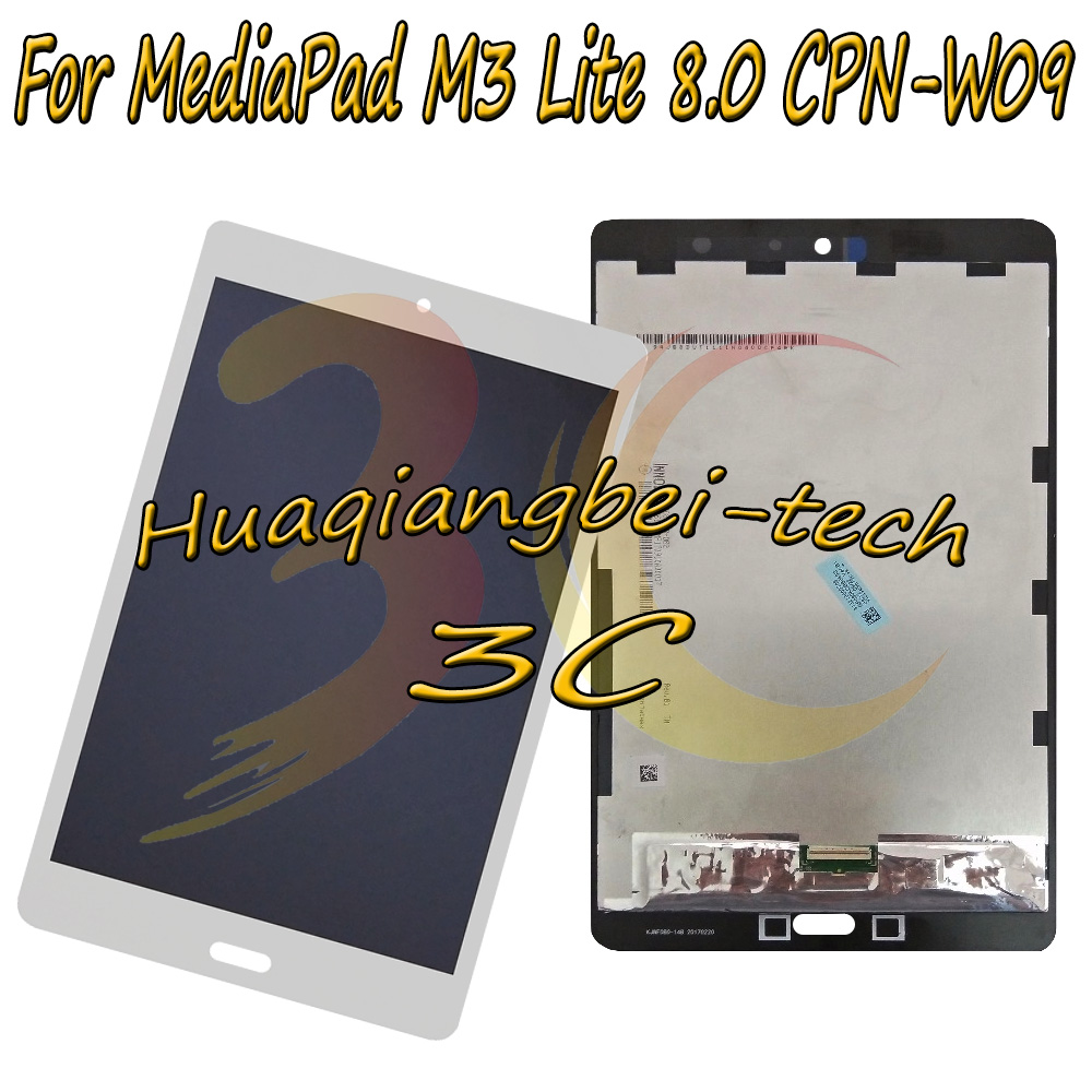 8.0 inch For Huawei MediaPad M3 Lite 8.0 Full Touch Screen Digitizer Glass Lens + LCD Screen Assembly ; Test OK before shipping touch screen replacement module for nds lite