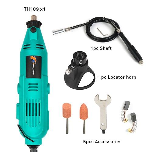Tungfull Мини электрическая дрель Аксессуары сверла деревообрабатывающие инструменты переменная скорость Электрический Роторный инструмент Мини дрель шлифовальный станок - Цвет: drillshaftlocator