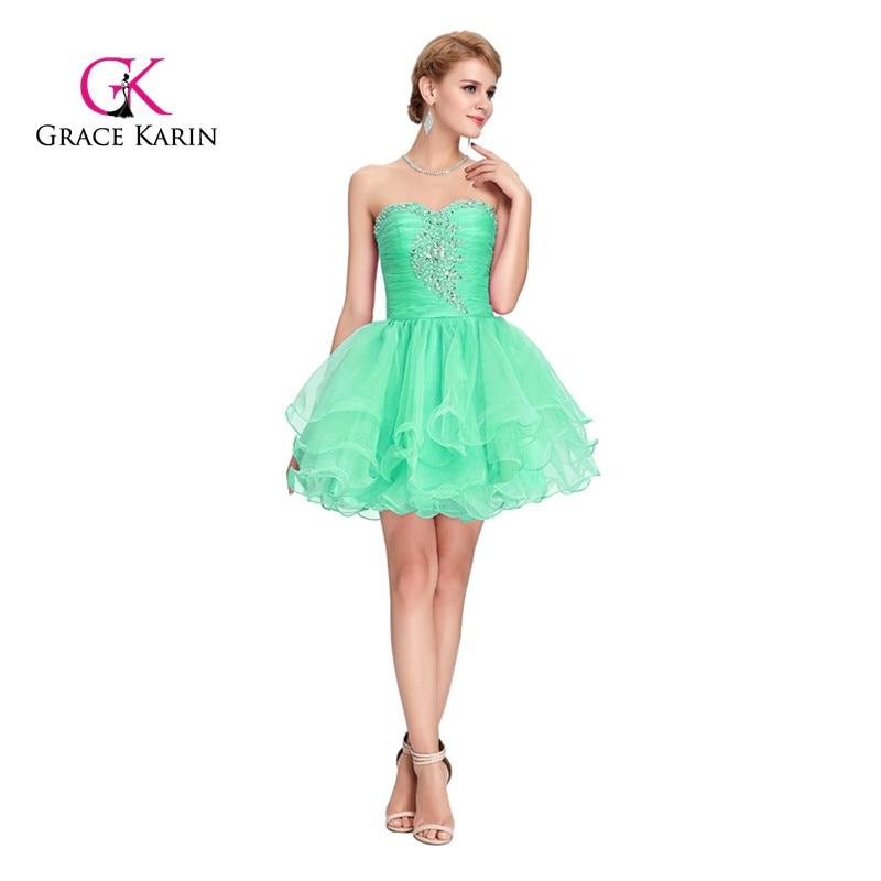 Short Prom Dress Grace Karin Black Purple Pink Beaded