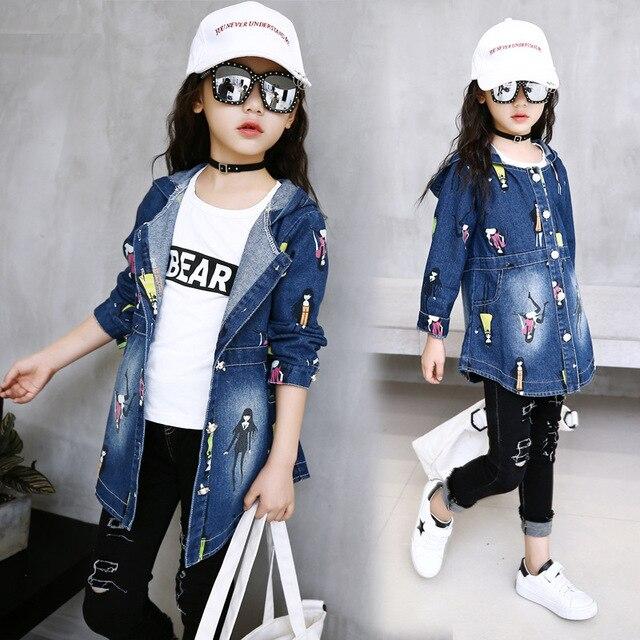 23abf68ab606 € 14.82 |Nuevos Niños ropa de abrigo de mezclilla de Moda para chicas  sudaderas chaquetas de otoño y primavera outwear niños ropa de bebé niña de  ...
