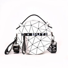 New Women Shoulder Bag Luxury Handbags Women Geometric Bags Designer Round Messenger Bag for Women 2018 Bolsa Feminina(China)