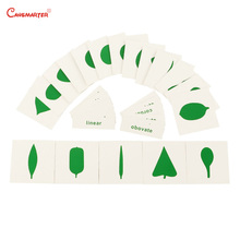 Leaf Cards Montessori Teaching Toys for Children House Center Cards Set PVC Materials Educational Toy Game Leaf Shape BO058 3