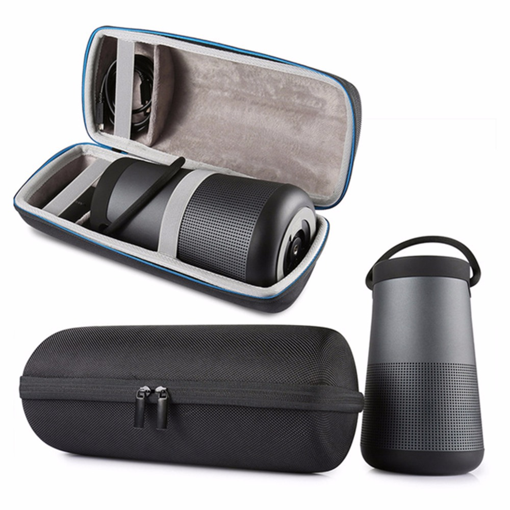 Newest Travel For Bose Soundlink Revolve+ Plus Case EVA Carry Protective Speaker Box Pouch Cover Extra Space For Plug & Cables leory portable speaker case for bose soundlink mini multilayer protective speaker bag pouch extra space for plug