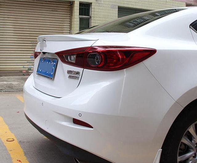 Pearl White Rear Wing Trunk Aero Spoiler For Mazda3 Mazda 3 Sedan 2017 2016