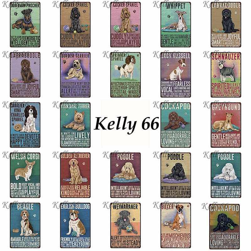 [Kelly66] TIẾNG ANH BULLDOG Kim Loại Đăng Tin Poster Trang Trí Nội Thất Cửa Hàng Thú Nuôi Wall Art Painting 20*30 CM kích thước y-1626